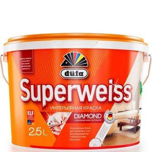 "Фото 2 - Краска ""Супервайс РД4"" (Superweiss RD4)  водно-дисперсионная глубокоматовая интерьерная ""Дюфа/Düfa""."