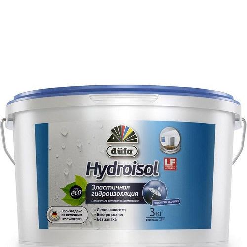 "Фото 1 - Состав ""Гидросол"" (Hydroisol) голубой гидроизоляционный эластичный ""Дюфа/Düfa"" 3л."