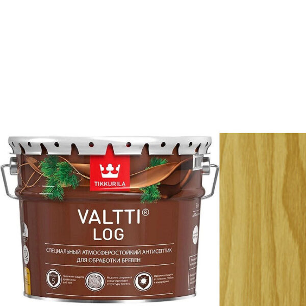 "Фото 1 - Антисептик ""Валтти Лог"" (Valtti log) Сосна, для обработки бревен ""Тиккурила/Tikkurila""."