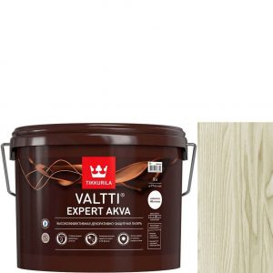 """Фото 2 - Лазурь """"Валтти Эксперт Аква"""" (Valtti expert akva) Дуб Беленый, полуматовая для древесины """"Tikkurila""""."""