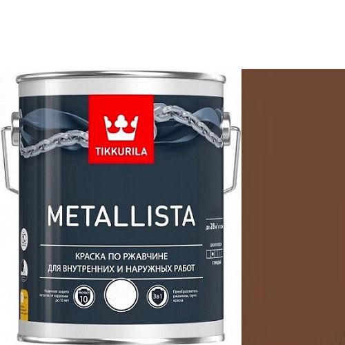 """Фото 1 - Краска """"Металлиста"""" (Metallista) Коричневая гладкая, по ржавчине для металла """"Тиккурила/Tikkurila""""."""