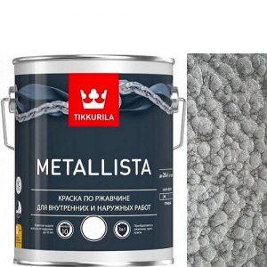 "Фото 7 - Краска ""Металлиста"" (Metallista) Серебристая молотковая по ржавчине для металла""Тиккурила/Tikkurila""."