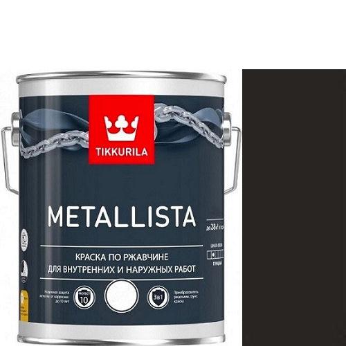 """Фото 1 - Краска """"Металлиста"""" (Metallista) Черная гладкая, по ржавчине для металла """"Тиккурила/Tikkurila""""."""