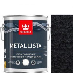 """Фото 9 - Краска """"Металлиста"""" (Metallista) Черная молотковая, по ржавчине для металла""""Тиккурила/Tikkurila""""."""