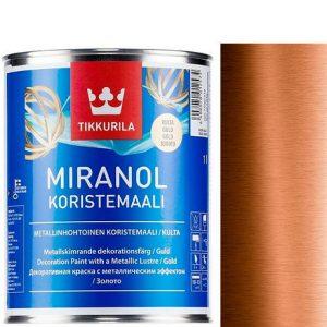 """Фото 2 - Краска """"Миранол"""" (Miranol Koristemaali) Медь, полуглянцевая для декоративных работ """"Tikkurila""""."""
