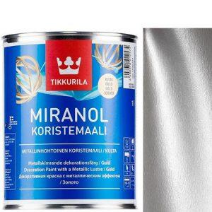 "Фото 3 - Краска ""Миранол"" (Miranol Koristemaali) Серебро, полуглянцевая для декоративных работ ""Tikkurila""."