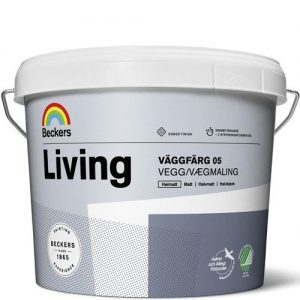 """Фото 6 - Краска """"Ливинг Ваггфарг 05"""" (Living Vaggfarg 05) латексная глянцевая интерьерная """"Беккерс/Beckers""""."""