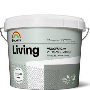"""Фото 8 - Краска """"Ливинг Ваггфарг 07"""" (Living Vaggfarg Matt 07) латексная матовая для стен и потолков""""Beckers""""."""
