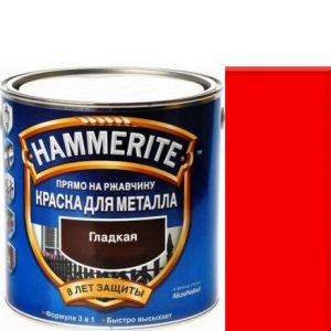 """Фото 15 - Краска """"Hammerite"""" Красная, гладкая глянцевая для металла 3 в 1 """"Хаммерайт""""."""