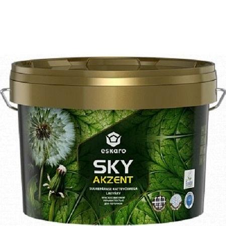 """Фото 1 - Краска """"Акцент Скай"""" (Akzent Sky) глубокоматовая для потолков с высокой укрывистостью""""Эскаро/Eskaro""""."""