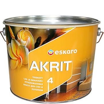 """Фото 1 - Краска """"Акрит-4"""" (Akrit-4) глубокоматовая для стен и потолков """"Эскаро/Eskaro""""."""