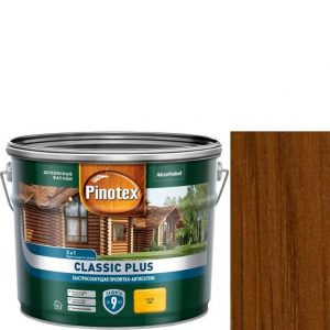 """Фото 5 - Антисептик """"Pinotex Classic Plus"""" Тик, полуматовая пропитка для защиты древесины """"Пинотекс""""."""