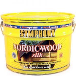 "Фото 2 - Антисептик ""Нордик Вуд Силк"" (Nordic Wood Silk) лессирующий шелковисто-матовый для дерева""Symphony""."