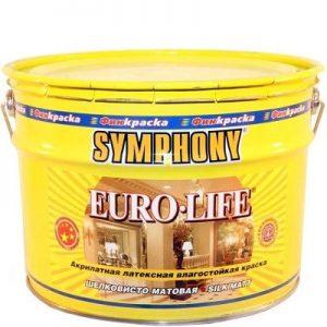 """Фото 13 - Краска """"Евро Лайф"""" (Euro Life) латексная шелковисто-матовая влагостойкая интерьерная """"Symphony""""."""