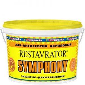 """Фото 4 - Лак-Антисептик """"Реставратор""""(Restavrator) акриловый для внутренних работ """"Symphony""""."""