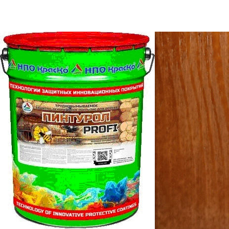 Фото 1 - Пинтурол PROFI - защитно-декоративное покрытие для дерева с натуральным маслом и воском (Абрикос) 8кг-15кг.