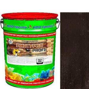 Фото 9 - Пинтурол PROFI - защитно-декоративное покрытие для дерева с натуральным маслом и воском (Венге) 8кг-15кг.