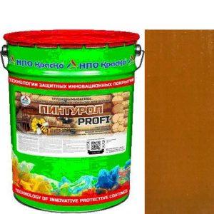Фото 9 - Пинтурол PROFI - защитно-декоративное покрытие для дерева с натуральным маслом и воском (Дуб) 8кг-15кг.