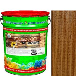 Фото 6 - Пинтурол PROFI - защитно-декоративное покрытие для дерева с натуральным маслом и воском (Тик) 8кг-15кг.