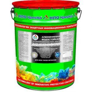 Фото 8 - Алюминол - алюминиевая  водостойкая антикоррозионная грунт-эмаль «3 в 1» для черных, цветных и оцинкованных металлов (Серебристо-серый) 20 кг.