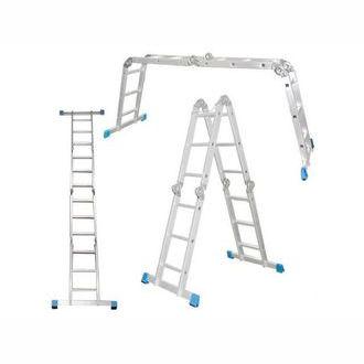 """Фото 1 - """"Лестница-Трансформер"""" Шарнирная алюминиевая многоцелевая """"Алюмет""""."""