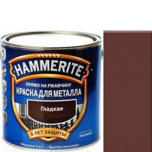 """Фото 13 - Краска """"Hammerite"""" Коричневая, гладкая глянцевая для металла 3 в 1 """"Хаммерайт""""."""