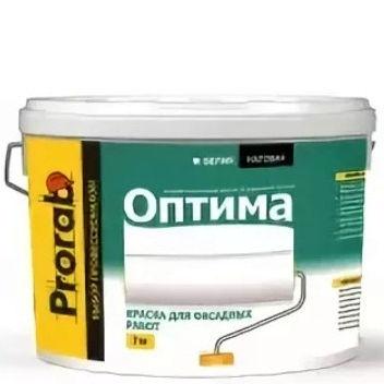 """Фото 1 - Краска """"Оптима для Фасадных работ"""" вододисперсионная матовая """"Прораб/Prorab""""."""