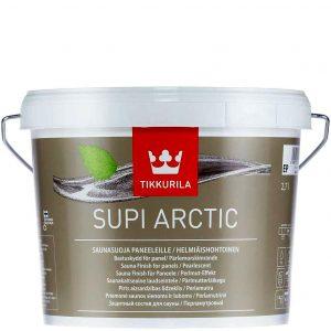 """Фото 2 - Защитный состав """"Супи Арктик"""" (Supi Arctic) полуматовый перламутровый для саун и бань """"Tikkurila""""."""