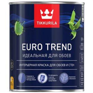 """Фото 8 - Краска """"Евро Тренд"""" (Euro Trend) для обоев и стен матовая """"Тиккурила/Tikkurila Finncolor""""."""