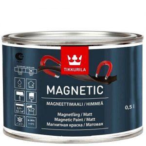 """Фото 16 - Краска """"Магнетик"""" (Magnetic) водоразбавляемая матовая притягивающая магниты """"Тиккурила/Tikkurila""""."""