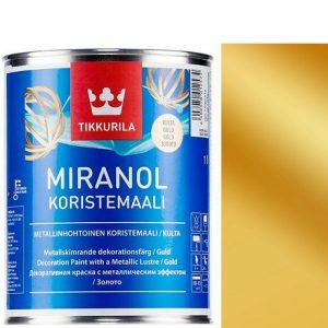 """Фото 1 - Краска """"Миранол"""" (Miranol Koristemaali) Золото, полуглянцевая для декоративных работ """"Tikkurila""""."""