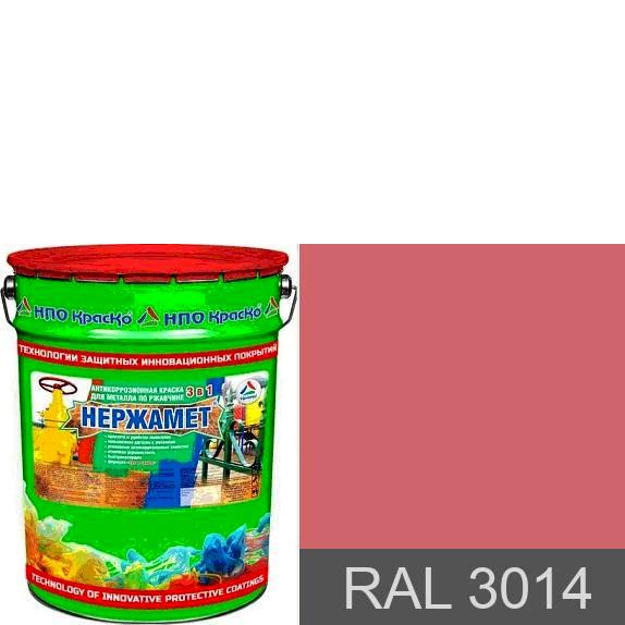 "Фото 1 - Краска Нержамет ""RAL 3014 Антик розовый"" антикоррозионная полуглянцевая для металла ""Вес - 20 кг"" КрасКо."