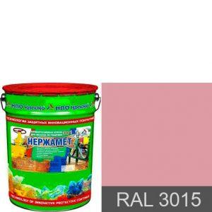 "Фото 13 - Краска ""Нержамет RAL 3015 Светло-розовый"" антикоррозионная полуглянцевая для металла ""КрасКо"" 20 кг."