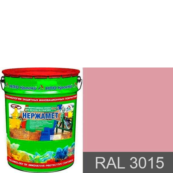 "Фото 1 - Краска Нержамет ""RAL 3015 Светло-розовый"" антикоррозионная полуглянцевая для металла ""Вес - 20 кг"" КрасКо."