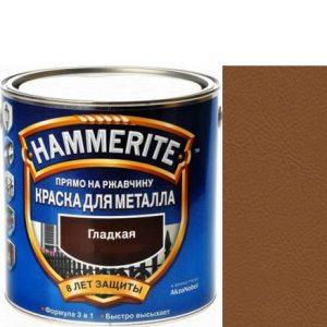 "Фото 15 - Краска ""Hammerite"" Светло-Коричневая, гладкая глянцевая для металла 3 в 1 ""Хаммерайт""."