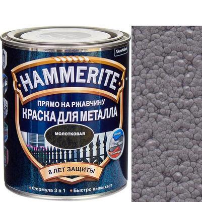 "Фото 1 - Краска ""Hammerite"" Серая, молотковая для металла 3 в 1 ""Хаммерайт""."