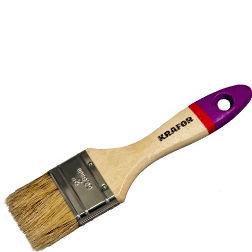 """Фото 7 - Кисть """"Плоская Евро"""" деревянная ручка """"Крафор/Krafor""""."""