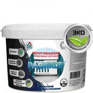 Фото 1 - Радикор -  термостойкая  защитно-декоративная грунт-эмаль на водной основе  для радиаторов и батарей отопления ( RAL 9003).