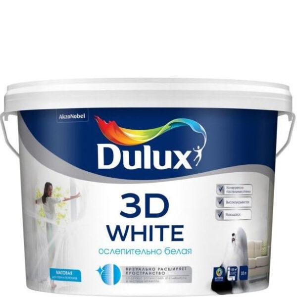 """Фото 1 - Краска """"Dulux"""" 3Д Вайт (3D White), акриловая матовая интерьерная """"AkzoNobel""""."""