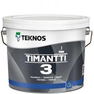 """Фото 15 - Краска грунтовочная """"Тиманти 3"""" (Timantti 3) акрилатная матовая для стен и потолков """"Teknos""""."""