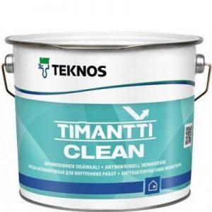 "Фото 10 - Краска ""Тиманти клин"" (Timantti clean) антимикробная полуматовая для внутренних работ ""Teknos""."