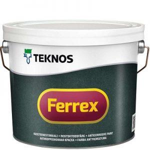 """Фото 1 - Краска """"Феррекс"""" (Ferrex) антикоррозионная Серая матовая атмосмферостойкая """"Teknos""""."""