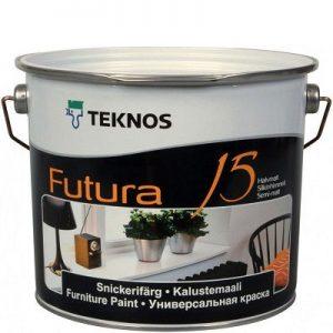 """Фото 1 - Краска """"Футура 15"""" (Futura 15) уретано-алкидная полуматовая универсальная  """"Teknos""""."""