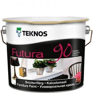 """Фото 3 - Краска """"Футура 90"""" (Futura  90) уретано-алкидная глянцевая желеобразная универсальная """"Teknos""""."""