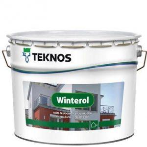 """Фото 3 - Краска фасадная""""Винтерол"""" (Winterol) акрилатная матовая для минеральных поверхностей """"Teknos""""."""