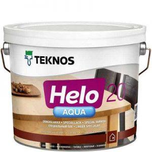 """Фото 7 - Лак """"Хело Аква 20"""" (Helo Aqua 20) водоразбавляемый полуматовый для деревянных поверхностей """"Teknos""""."""