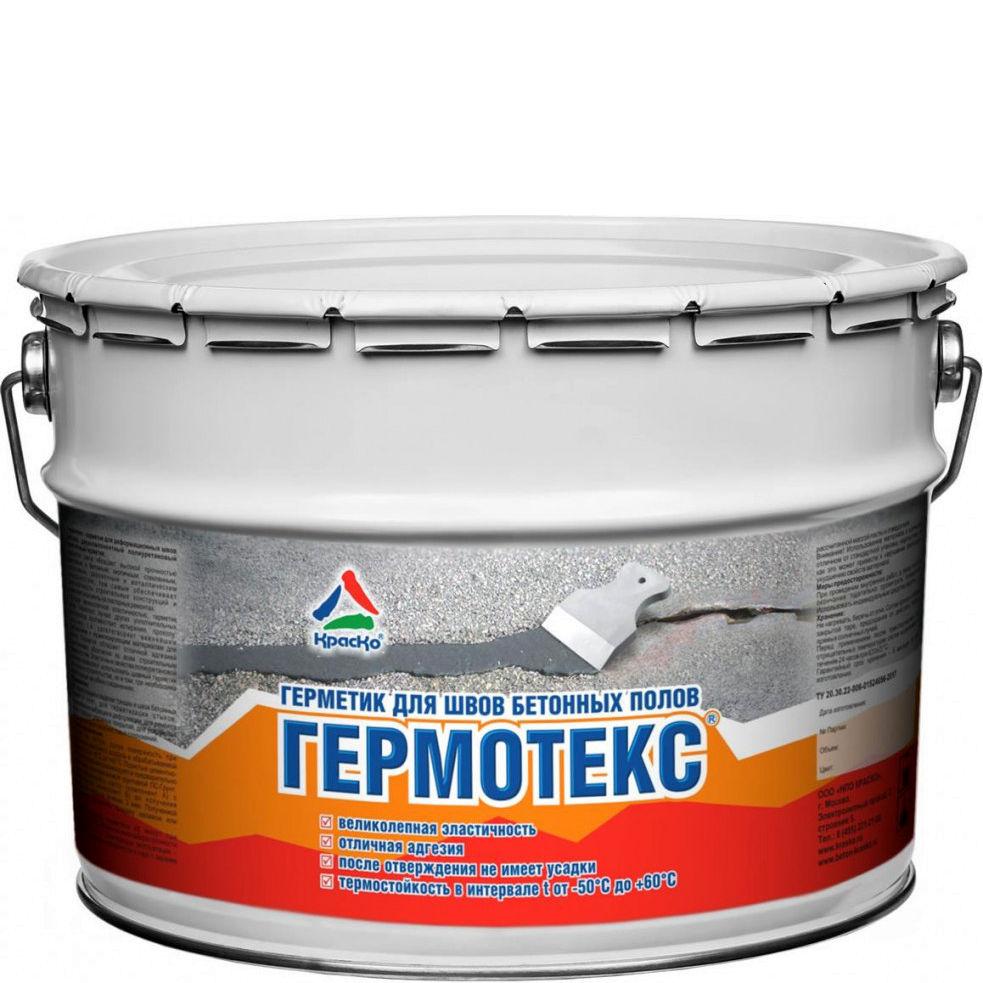 """Фото 7 - Герметик Гермотекс для деформационных швов бетонных полов """"Цвет Серый"""" """"Вес - 13 кг"""" КрасКо."""