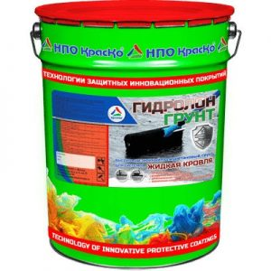 """Фото 1 - Грунт """"Гидролон-Грунт"""" гидроизоляционный полиуретановый с высокой адгезией """"КрасКо"""" 20л."""