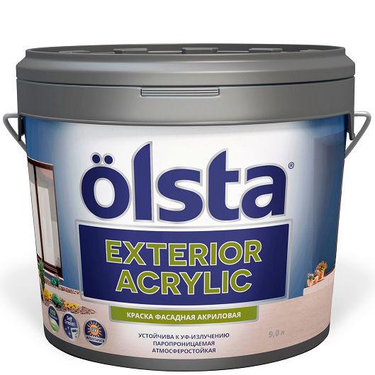 """Фото 1 - Краска """"Экстериор Акрилик"""" (Exterior Acrilic) фасадная матовая акриловая """"Олста/Olsta""""."""
