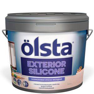 """Фото 5 - Краска """"Экстериор Силиконе"""" (Exterior Silicone) фасадная полуматовая силиконовая """"Олста/Olsta""""."""